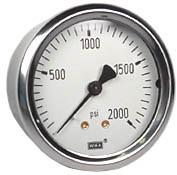 "WIKA Industrial Pressure Gauge 2.5"", 2000 PSI"