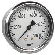 "WIKA Industrial Pressure Gauge 2.5"", 10,000 PSI"