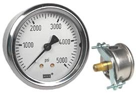 "WIKA U-Clamp Panel Mount Pressure Gauge 2.5"", 5000 PSI"