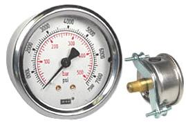 "WIKA U-Clamp Panel Mount Pressure Gauge 2.5"", 7500 PSI"