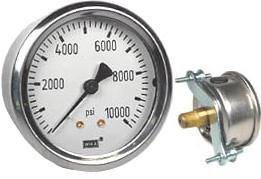 "WIKA U-Clamp Panel Mt Pressure Gauge 2.5"", 10,000 PSI"