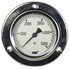 "WIKA Front Flange Panel Mount Gauge 2.5"", 5000 PSI"