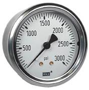 "WIKA Industrial Pressure Gauge 2.5"", 3000 PSI, Liquid Filled"