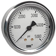 "WIKA Industrial Pressure Gauge 2.5"", 5000 PSI, Liquid Filled"