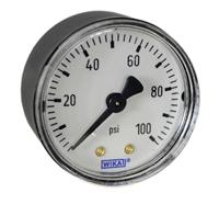 """WIKA Commercial Pressure Gauge 2"""", 100 PSI, 1/4""""  NPT"""