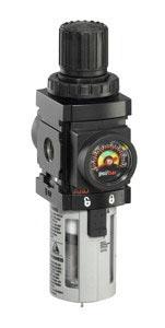 "ARO Miniature Filter/Regulator-Gauge 1/4"" 0-140PSI"