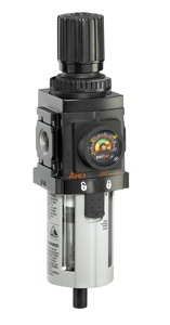 """ARO Compact Piggyback Air Filter/Regulator-Gauge 1/4"""""""