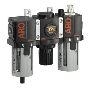 "Compact Filter-Regulator-Lubricator 1/4"" 0-140PSI"