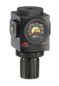 """ARO Air Regulator-Flush Mount Gauge 1/2"""", 0-140PSI"""