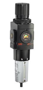 """ARO Piggyback Air Filter/Regulator-Gauge 1"""", 0-140PSI"""