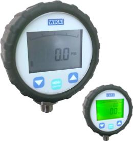 """WIKA DG-10-E Digital Vacuum-Pressure Gauge 30""""Hg-0-145 PSI"""