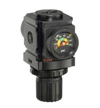 "ARO Miniature Air Regulator-Flush Mt. Gauge 1/8"", 0-140PSI"