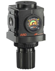 """ARO Compact Air Regulator-Gauge 1/4"""", 0-140PSI"""
