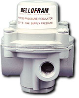 "Bellofram Fixed Air Regulator 1/4"", Preset at 10 PSI"