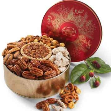 Pecan Candy Christmas Gift Tin