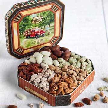 Seven Pecan Favorites Tin - Pecan Grove Gift Tin