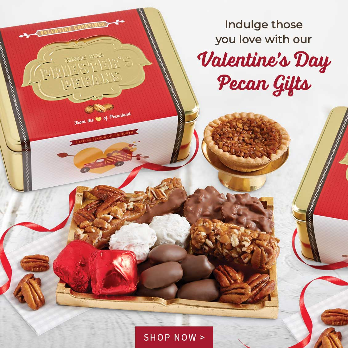 Indulge those you love with our Valentine's Day Pecan Gifts