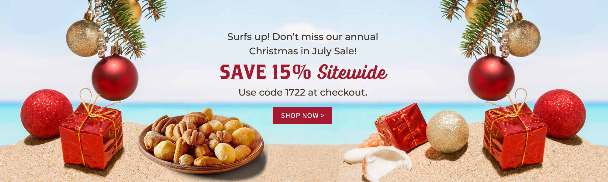 Don't miss our annual Christmas in July Sale! SAVE 15% Sitewide Use code 1722 at checkout.