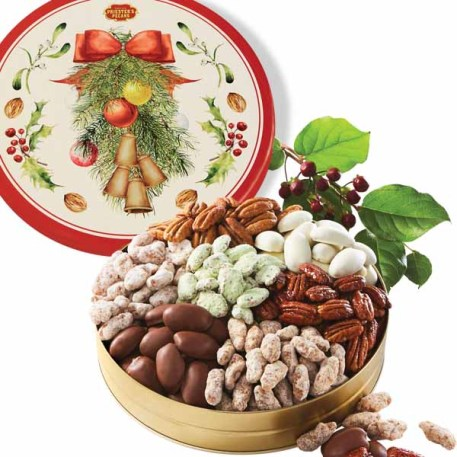 Seven Pecan Favorites - Christmas Bells Tin