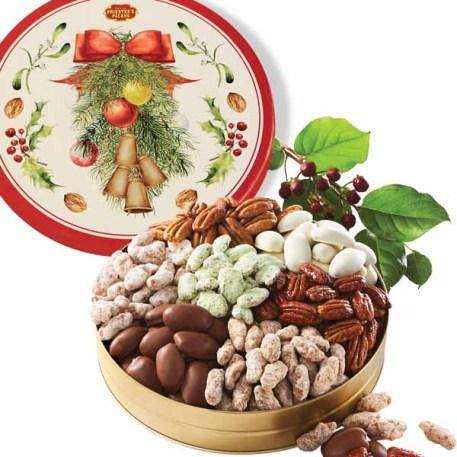 Seven Pecan Favorites - Christmas Bells Tin
