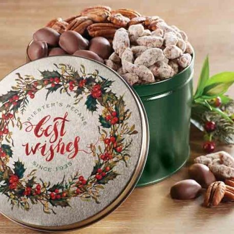 Best Wishes Pecan Snack Tin