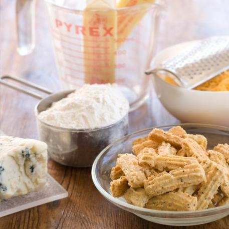 Betsy's Blue Cheese Straws
