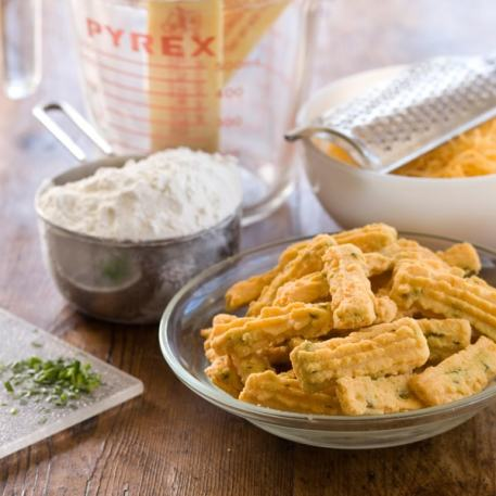 Betsy's Chive Cheese Straws