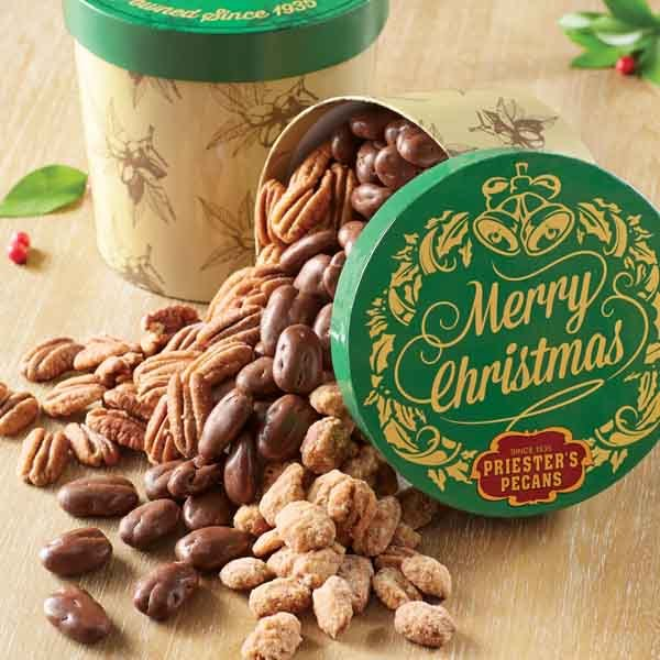 Merry Christmas Gift Tub - Pecan Trio