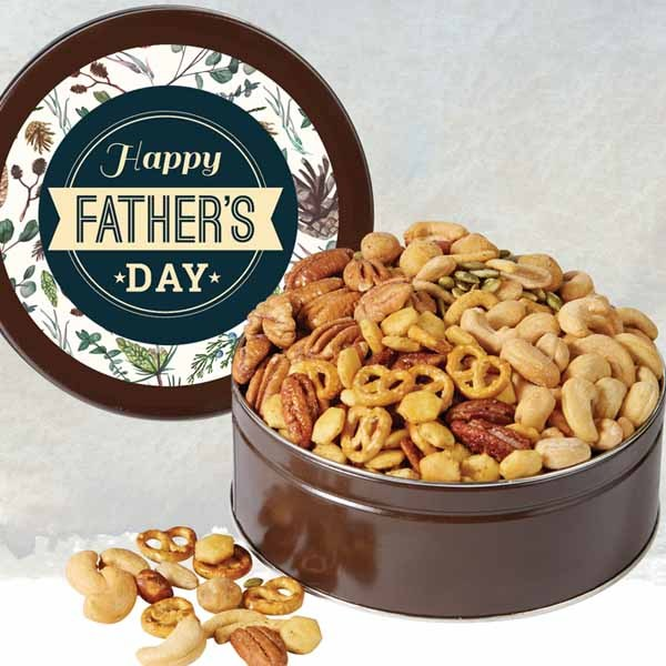 Happy Father's Day - Pecan & Nut Assortment Gift Tin