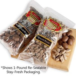 Bulk Packaged 24-1 Pound Bags - Natural Mammoth Pecan Halves