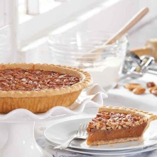 Old-Fashioned Pecan Pies - Two Pies-One Chocolate/One Old-Fashioned (Gift Boxed)