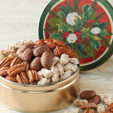 Holiday Greetings - Pecan Assortment Gift Tin