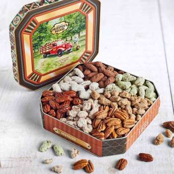 Seven Pecan Favorites - Pecan Grove Gift Tin - Seven Pecan Favorites - Pecan Grove Gift Tin