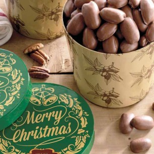 Merry Christmas Gift Tub - Milk Chocolate Pecans