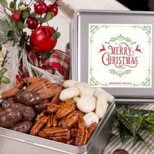 Christmas Wishes Pecan Assortment Gift Tin