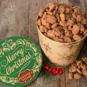 Merry Christmas Gift Tub - Crunchy Praline Pecans