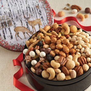 Deer in the Woods  Snack Mix and Assorted Nuts Tin
