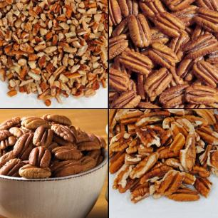 Pecans and Nuts (2 lbs. Economy Packs) - Mammoth Pecan Halves (Economy Pack)