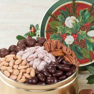 Merry & Bright Nut Assortment Gift Tin