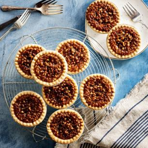 Mini Pecan Pies - (12) Reduced Sugar Mini Pecan Pies (Economy Packaged)
