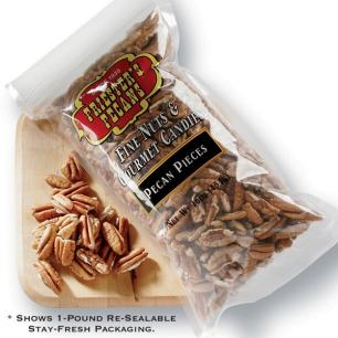 Natural Jr. Mammoth Pecan Halves (Elliotts) 1 lb. Bag