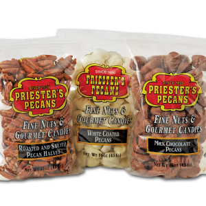 Pecan Gift Packs - Natural Pecans (Three 1 lb. Gift Bags)