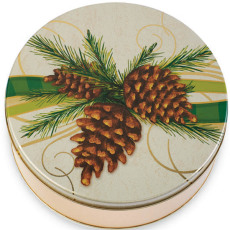 Decorative Pine Cone Tin