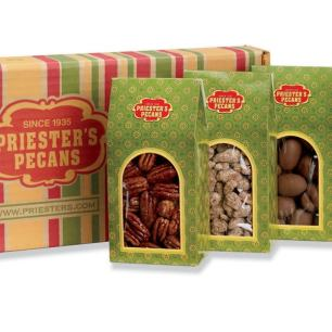 Holiday Roof Top Gift Boxes - Roasted Salted Pecans