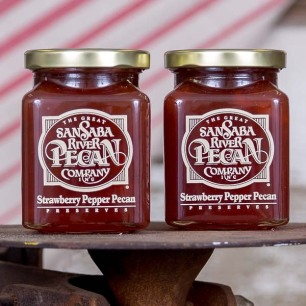 San Saba River Strawberry Pepper Pecan Preserves