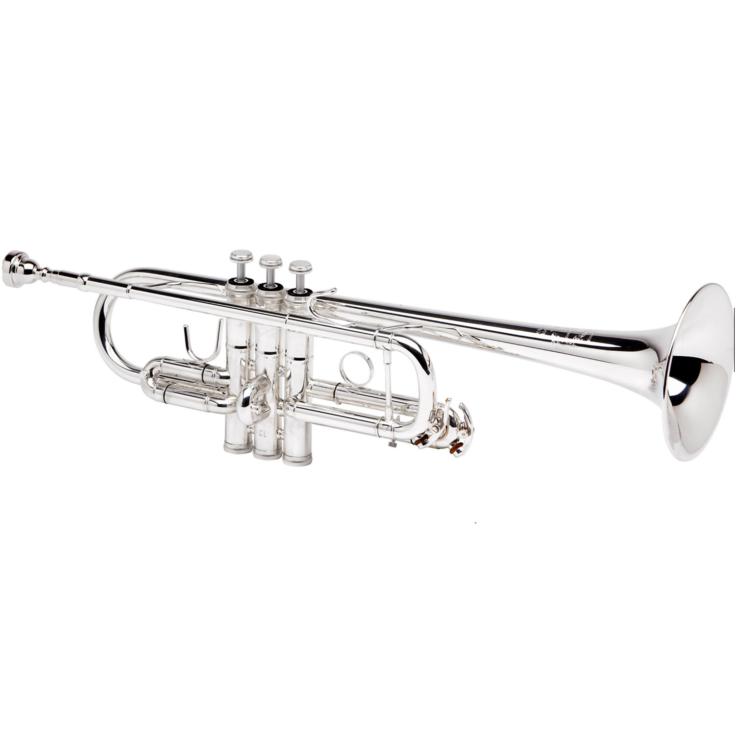 """B&S """"Challenger II"""" Professional C Trumpet - Silver Plating"""