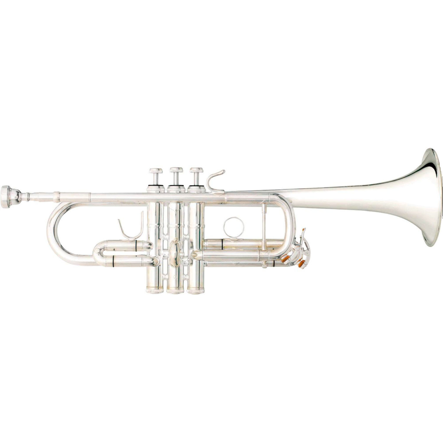 """B&S """"Challenger II"""" Professional C Trumpet - Reverse Leadpipe - Silver Plating"""