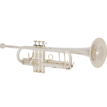 """B&S """"Challenger II"""" Professional Bb Trumpet - #43 Bell - Silver Plating"""