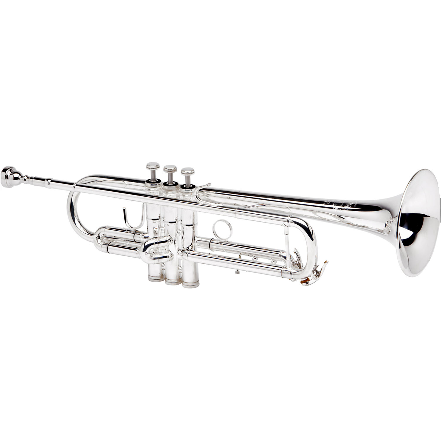 """B&S """"Challenger II"""" Professional Bb Trumpet - #43 Bell - Silver Plating - Reverse Leadpipe"""