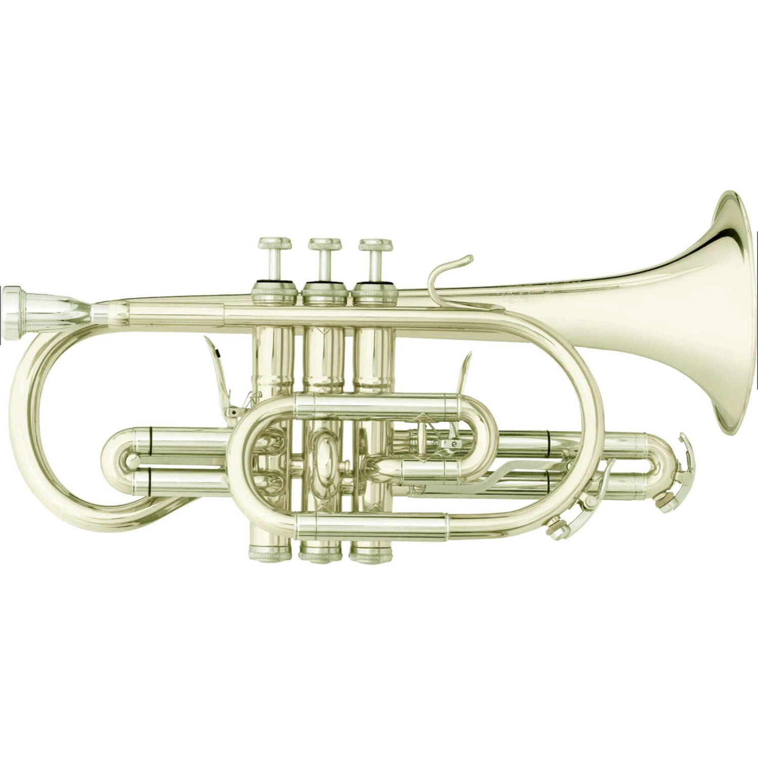"B&S ""Challenger I"" Professional Bb Cornet - Silver Plating"